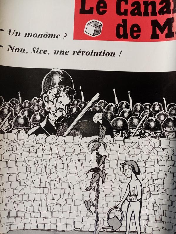 1968 Plakat Moisan Karikatur de Gaulles Sammeln