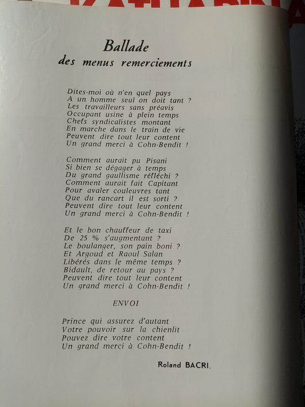 1968 Plakat Moisan Karikatur de Gaulles Sammeln 2