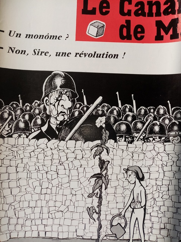 1968 Plakat Moisan Karikatur de Gaulles Sammeln 3