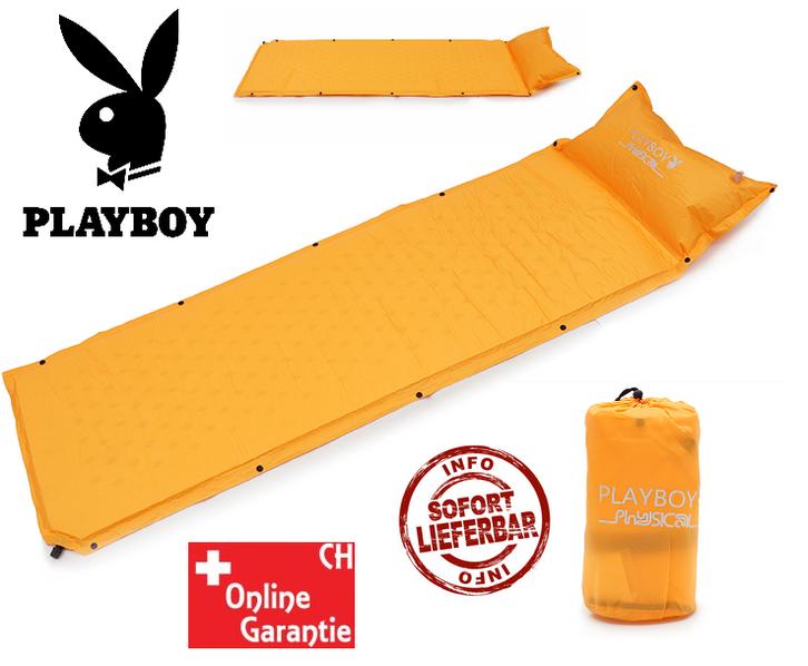 Details zu  Selbstaufblasbare Playboy Schlafmatte Schlafsack Matratze Camping Festival Openair Sport & Outdoor