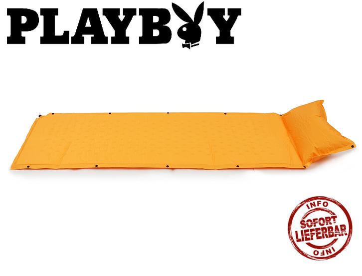 Selbstaufblasbare Playboy Schlafmatte Schlafsack Matratze Camping Festival Openair Camping Party Sport & Outdoor 2