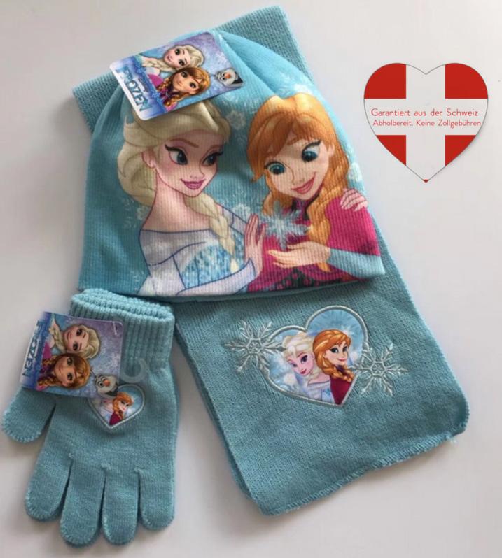 Disney Die Eiskönigin Frozen II Mädchen Winter Set Kleidung Mütze Schal Handschuh Accessoire Baby & Kind