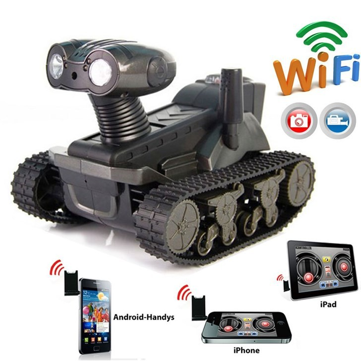 Ferngesteuertes WiFi Spionage Handy Smartphone Auto Panzer iPhone iPad Android Samsung HTC Tablet Telefon & Navigation