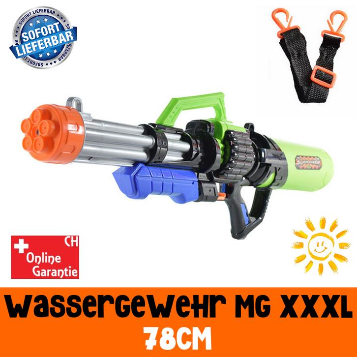 Gigantisches Wassergewehr Wasserpistole Wasser Pistole XXL Wasser Pistole Gewehr MG Spielzeug Kind Kinder Sommer Badi