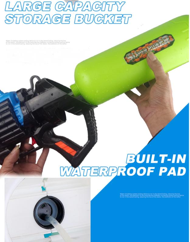 Gigantisches Wassergewehr Wasserpistole Wasser Pistole XXL Wasser Pistole Gewehr MG Spielzeug Kind Kinder Sommer Badi Spielzeuge & Basteln 3