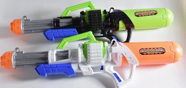 Gigantisches Wassergewehr Wasserpistole Wasser Pistole XXL Wasser Pistole Gewehr MG Spielzeug Kind Kinder Sommer Badi Spielzeuge & Basteln 4