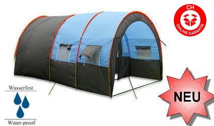 Grosses Tunnel Zelt Tunnelzelt Openair Festvial Camping Urlaub 5-8 Personen Schlafabteil Openair Festival Camping Campen Sport & Outdoor