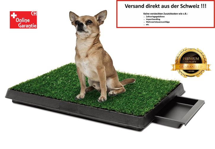 Hunde Klo WC Hundeklo Hundewc Welpen Klo WC Training Stubenrein Indoor und Outdoor geeignet Premium Garten & Handwerk