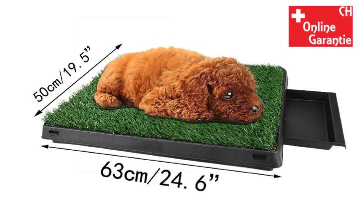 Hunde Klo WC Hundeklo Hundewc Welpen Klo WC Training Stubenrein Indoor und Outdoor geeignet Premium Garten & Handwerk 3