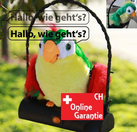 Papagei Spielzeug mit Soundeffekt spricht alles nach Plüschtier Geschenk Kind Kinderzimmer Lustig Spassig Kinderspielzeug Spielzeuge & Basteln