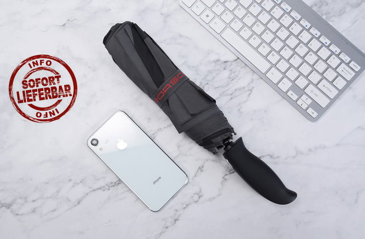 Porsche Auto Regenschirm Taschenschirm Automatik Fan Geschenk Accessoire Sonstige 4