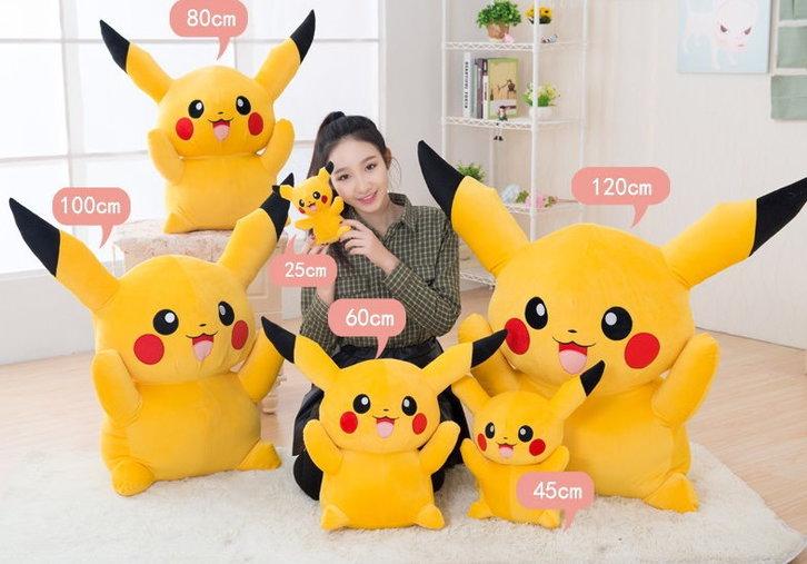 Riesen Pokemon Pikachu Plüsch Plüschtier XXL 120cm XL 80cm Geschenk Kind Fan Sammeln