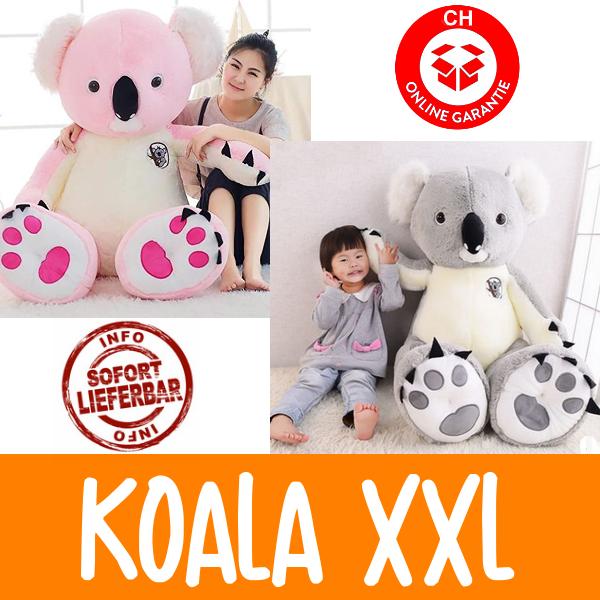 XXL Koala Bär Plüschbär Plüschtier Kuscheltier 140cm Grau Pink Geschenk Kind Kinder Frau Freundin Spielzeuge & Basteln