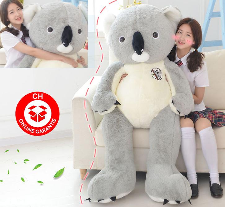 XXL Koala Bär Plüschbär Plüschtier Kuscheltier 140cm Grau Pink Geschenk Kind Kinder Frau Freundin Spielzeuge & Basteln 2