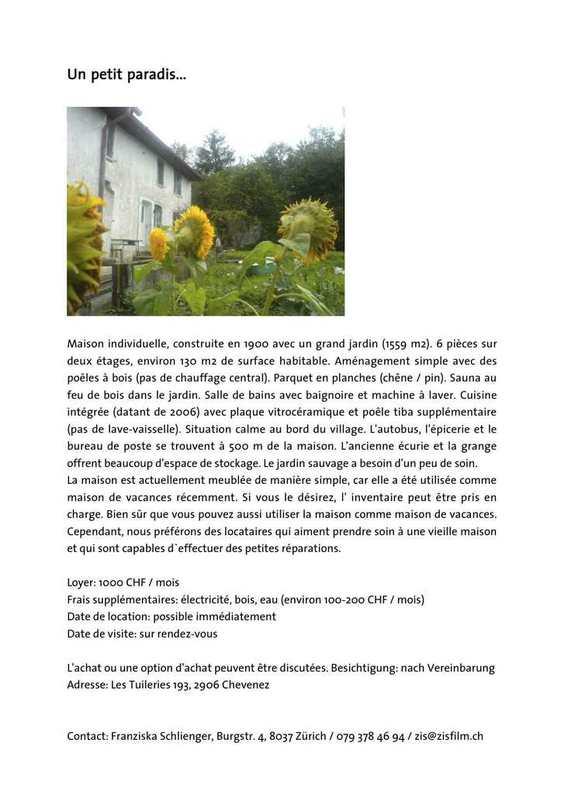 Maison individuelle 2906 Chevenez Kanton:ju Immobilien