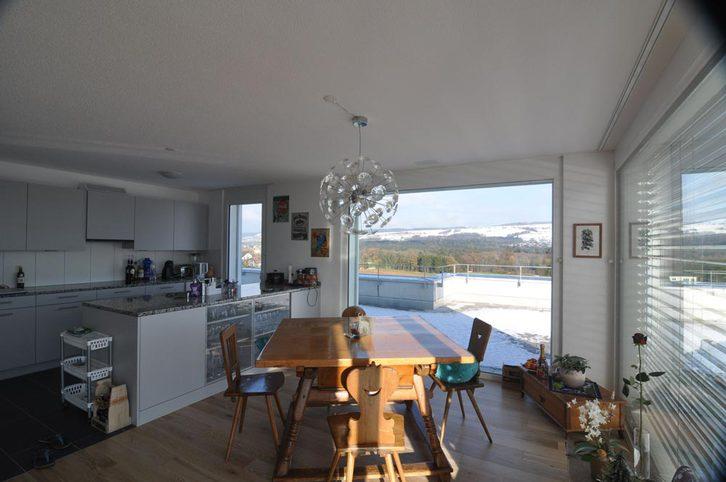 Helle Attika mit riesiger 150m2 Terrasse und Alpenblick Nähe Zürich/Baden 5524 Niederwil Kanton:ag Immobilien 2