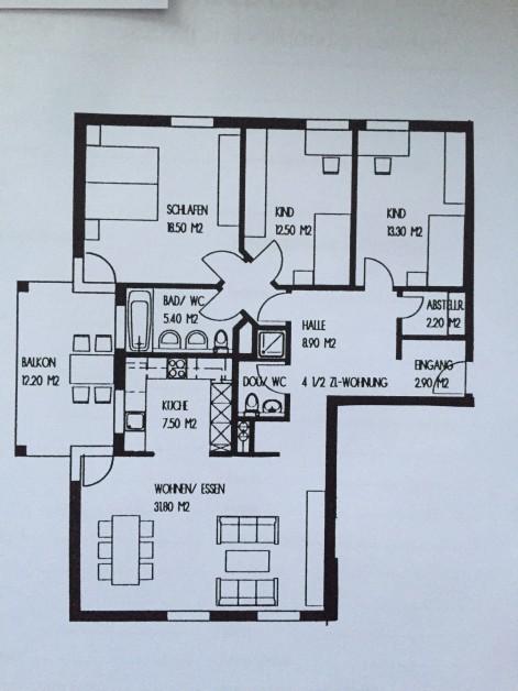 Sehr schöne und helle 4,5 Zimmerwohnung nähe Zürich 8902 Urdorf Kanton:zh Immobilien