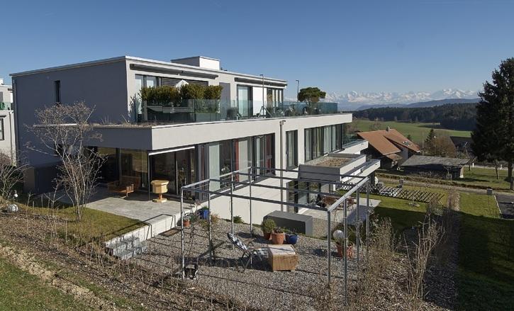 moderne 3.5 Zr. Gartenwohnung mit Bergsicht inkl. NK & EHP 3045 Meikirch Kanton:be Immobilien