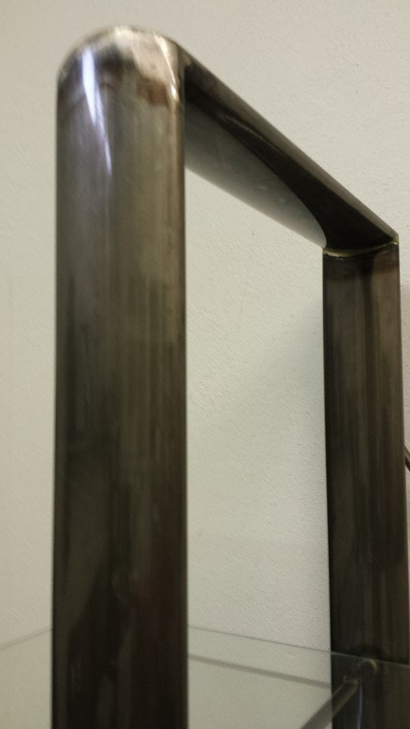 2 Regale Stahl lackiert mit je 4 Glasplatten Haushalt 4