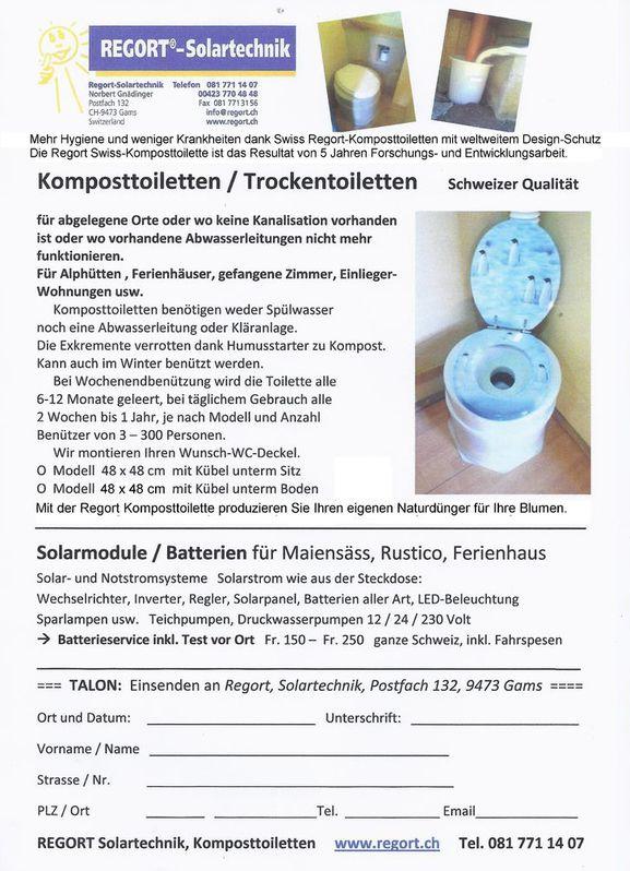 Komposttoilette regort swiss keine Kanalisation,kein Wasser nötig ! Büro & Gewerbe 2