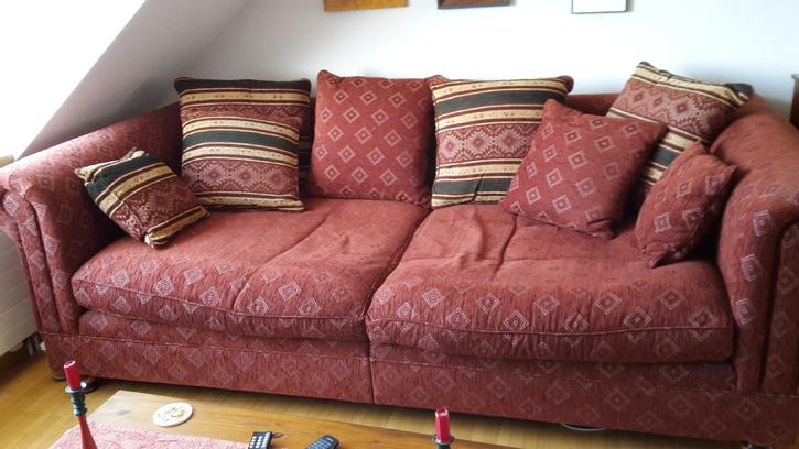 Schöne alte Möbel und mod.Couch Antiquitaeten 4