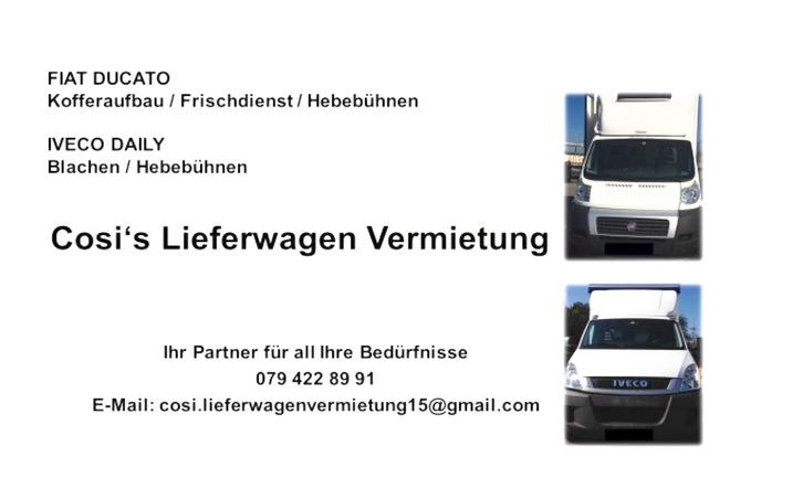 Cosi's Lieferwagen Vermietung  Sonstige