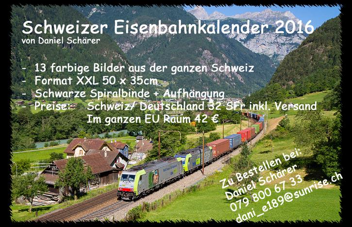 Schweizer Eisenbahnkalender  Foto & Video
