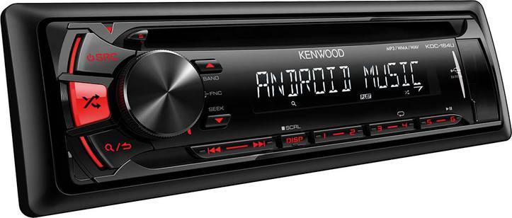 AUTORADIO - CD - USB - AUX ANDREOID - KDC-164UR USB/CD-Receiver  roter Tastenb Fahrzeuge