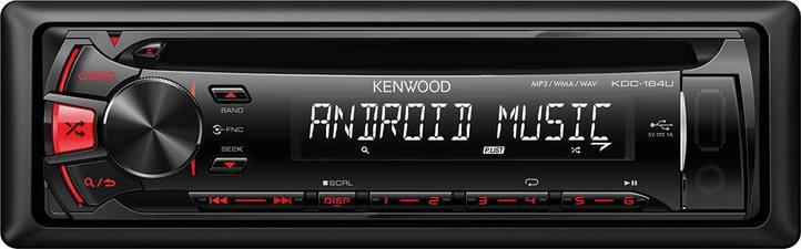 AUTORADIO - CD - USB - AUX ANDREOID - KDC-164UR USB/CD-Receiver  roter Tastenb Fahrzeuge 2