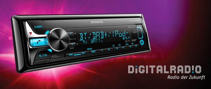 KDC-BT49DAB Autoradio inkl. Antenne NEU DAB Radio Fahrzeuge