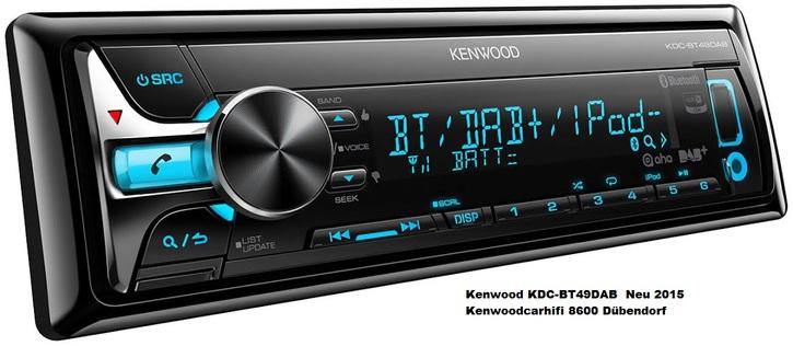 KDC-BT49DAB Autoradio inkl. Antenne NEU DAB Radio Fahrzeuge 2