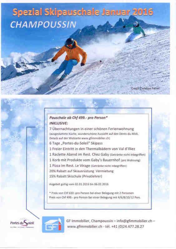 Ski Ferien im Wallis - Spezial Skipauschale Immobilien 2