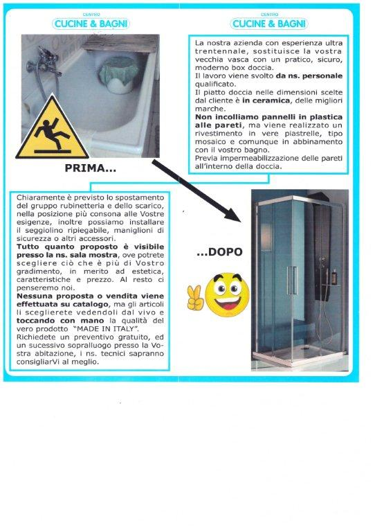Sostituzione vasca da bagno con doccia Haushalt 2