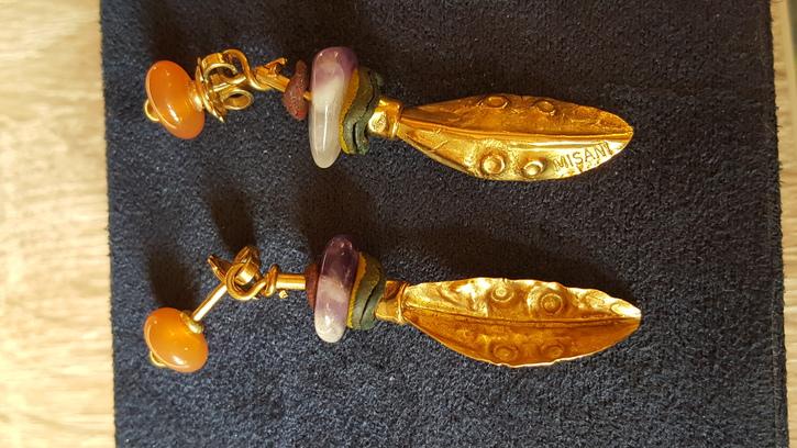 Orecchini artigianali Misani oro.  Antiquitaeten 2