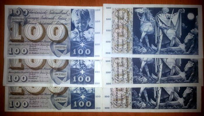 banconote 100 franchi svizzeri Sammeln