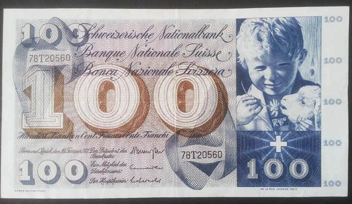 banconote 100 franchi svizzeri Sammeln 2