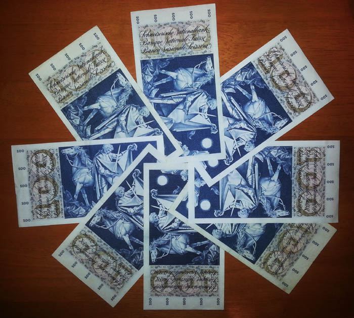 banconote 100 franchi svizzeri Sammeln 4
