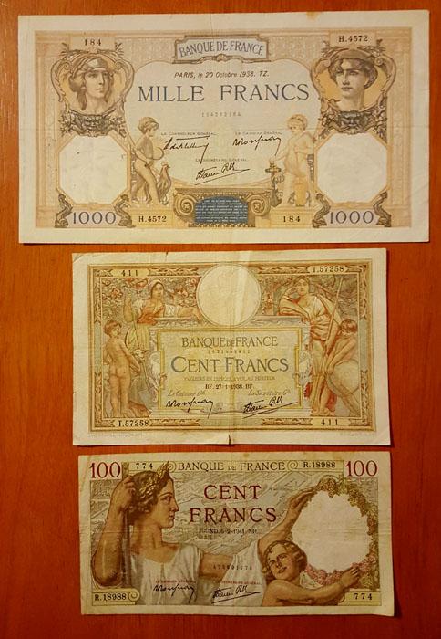 banconote francesi Sammeln 2
