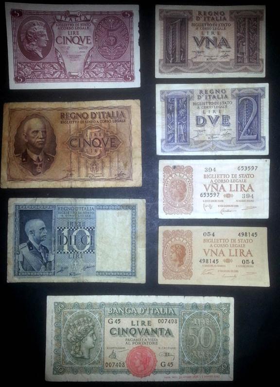 banconote Italia lotto 4 Sammeln