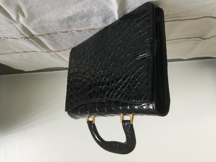 Borsa nera coccodrillo Kleidung & Accessoires 2