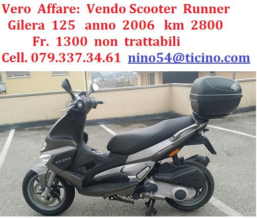 Vendo  Scooter  125  runner Fahrzeuge