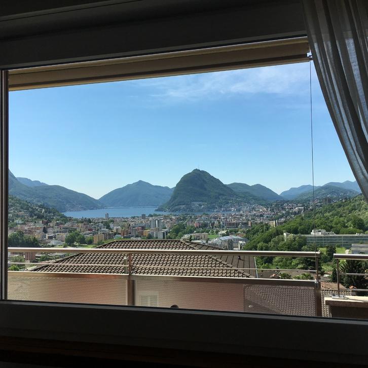 Lugano Canobbio 4 locali vista lago Immobilien