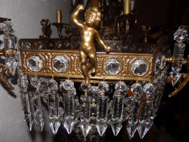 Lampadario antico con Putti - restaurato - Antiquitaeten 4