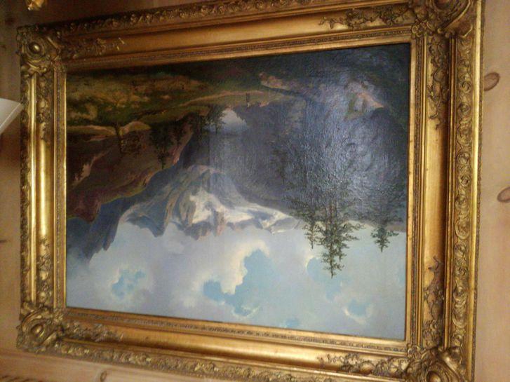 Coppia di quadri olio su tela Antiquitaeten
