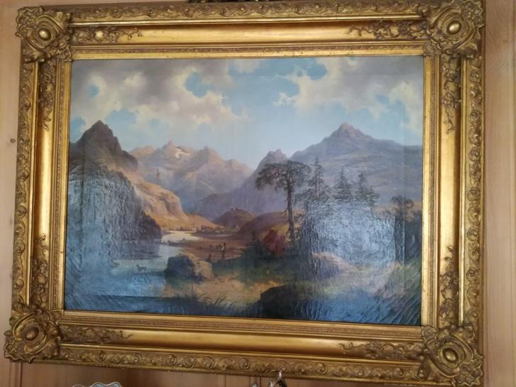 Coppia di quadri olio su tela Antiquitaeten 2