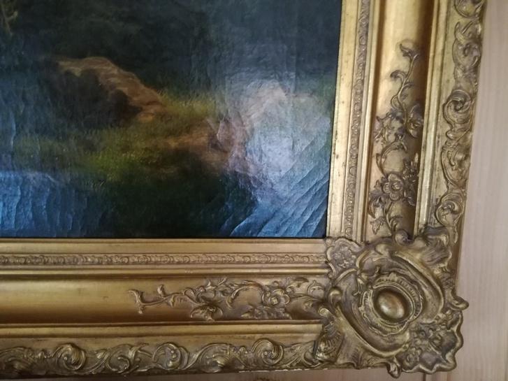 Coppia di quadri olio su tela Antiquitaeten 3