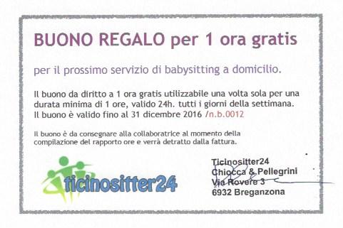 Regalo 2 buoni per 1 ora di babysitting gratis Stellen & Kurse