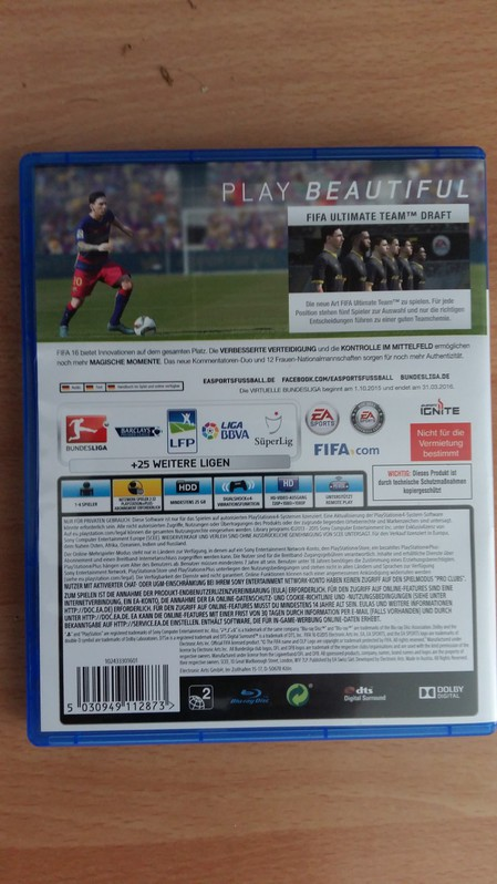 FIFA 16 per PS4 Spielzeuge & Basteln 2