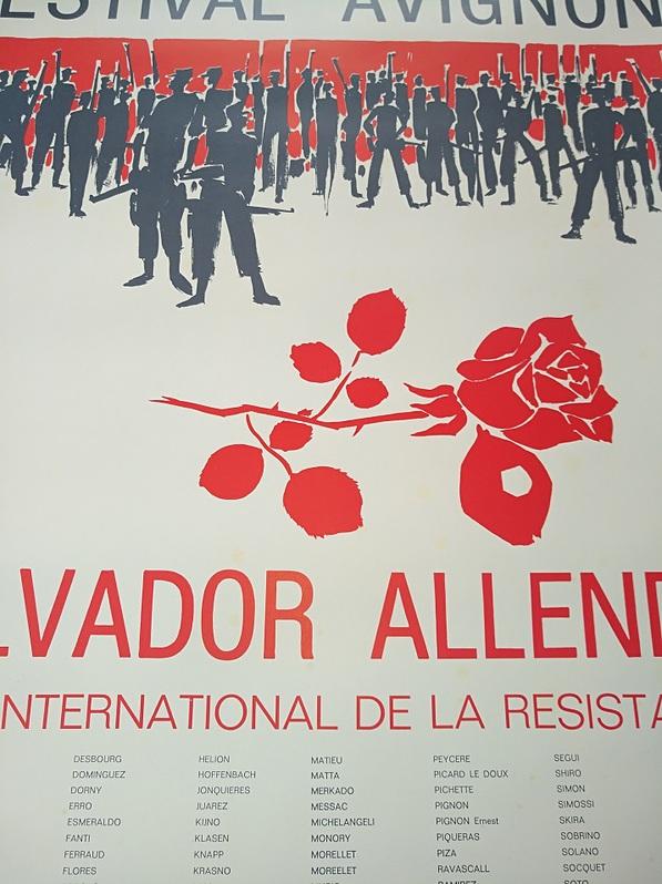 1977 Plakat Festival Avignon Raubkunst Chile Antiquitaeten 4