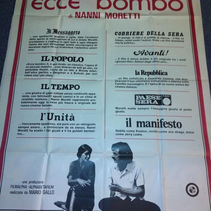 1978 Moretti Plakat Ecce Bombo Cannes VA für die Ital Schweiz Sammeln